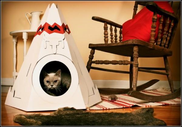 Индейские домики для кошек Cat Teepee