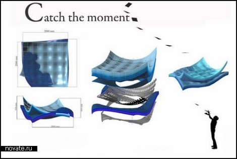 Концептуальный диван *Catch the moment* от Alicja Wasielewska