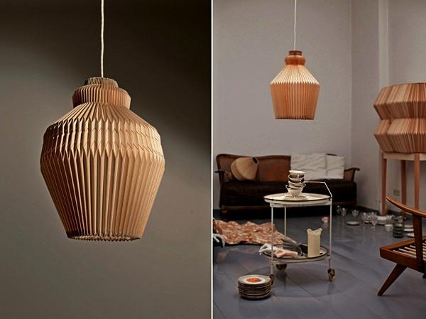 Accordion Lamp. Деревянный светильник от Элизы Строцик (Elisa Strozyk)