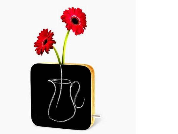 Вазы Chalkboard Bud Vase, на которых можно писать мелом