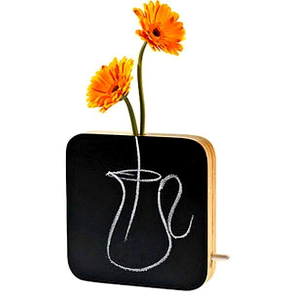 Дизайнерская ваза Chalkboard Bud Vase для одного цветочка или гербария