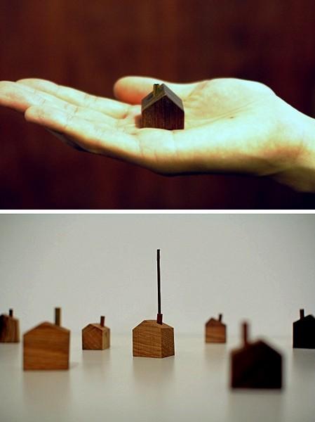 Chimney House, миниатюрный домик для аромапалочек