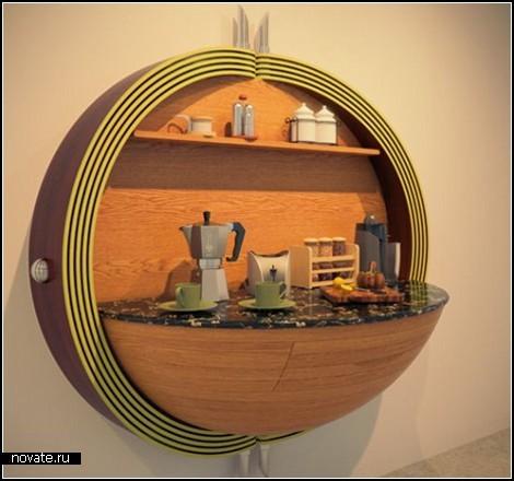 Компактная кухня Dime Kitchen для малогабаритных квартир