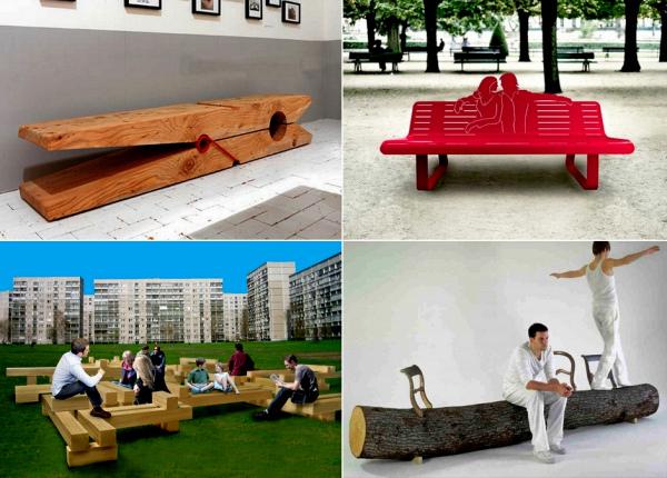 Обзор самых необычных дизайнерских скамеек