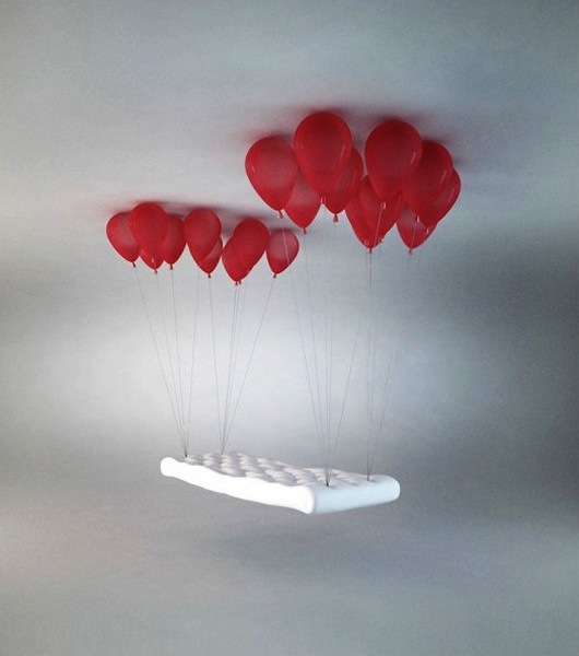 Balloon Bench. Скамейка на воздушных шариках