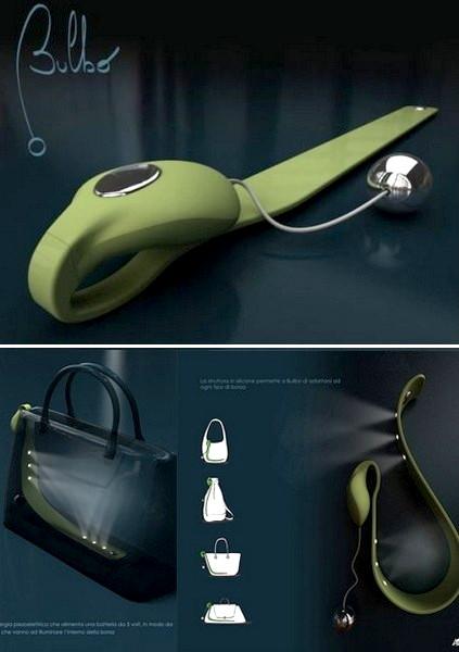 Bulbo Light Bag, фонарик для женской сумочки