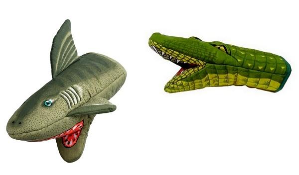 Кухонные прихватки в виде акулы и крокодила