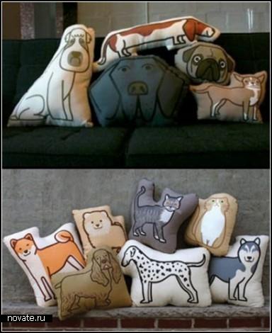 Очередной обзор креативных подушек от дизайнеров