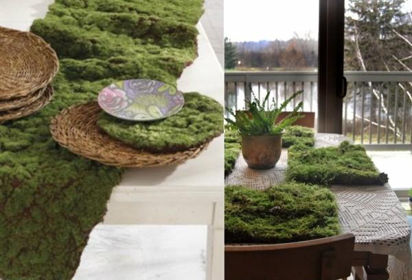 Салфетки под горячее, изображающие зеленую лужайку