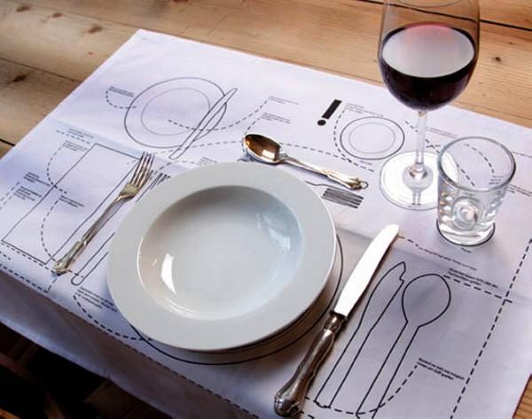 Салфетки с разметкой для посуды