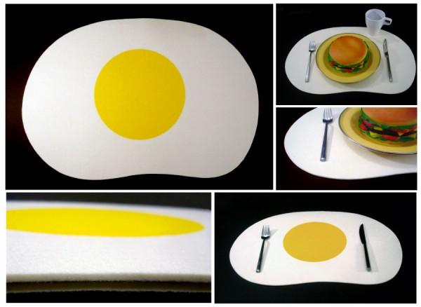 Салфетка в виде яичницы-глазуньи