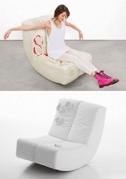 Гламурное кресло-качалка, женский вариант