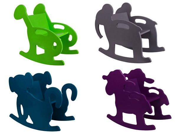 Кресла-качалки в виде зверушек, мебель для самых маленьких