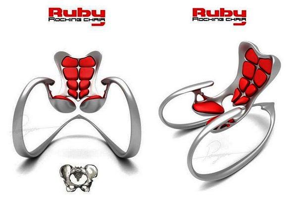 Необычное кресло-качалка Ruby Rocking Chair