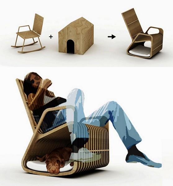 Rocking-2-gether, кресло-качалка для человека и его собаки