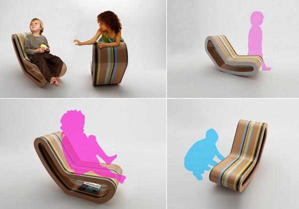 Кресло-качалка Caramelo. Карамельный дизайн от Luis Luna