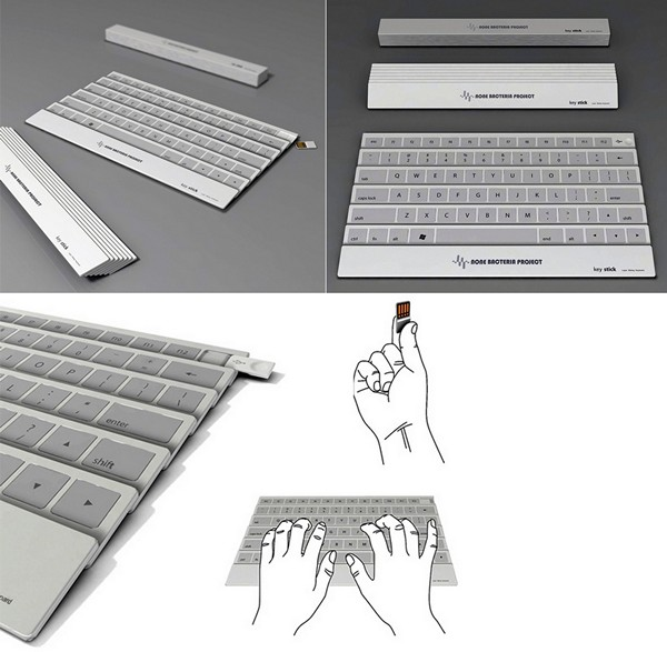 Складная клавиатура KeyStick, похожая на китайский веер. Концепт