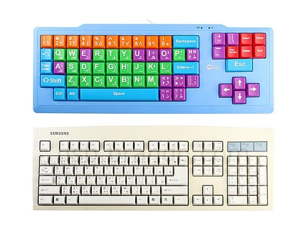 Разноцветная клавиатура для самых маленьких
