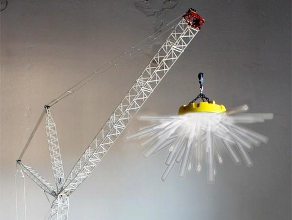 Необычный торшер Crane Light от Charlie Davidson