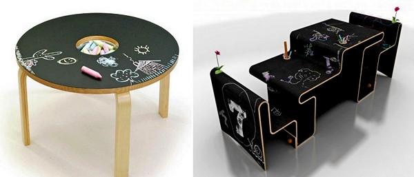 Детские дизайнерские столы для рисования мелом