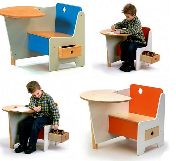 Столик Doodle Drawer Desk с потайным ящичком для хранения сокровищ