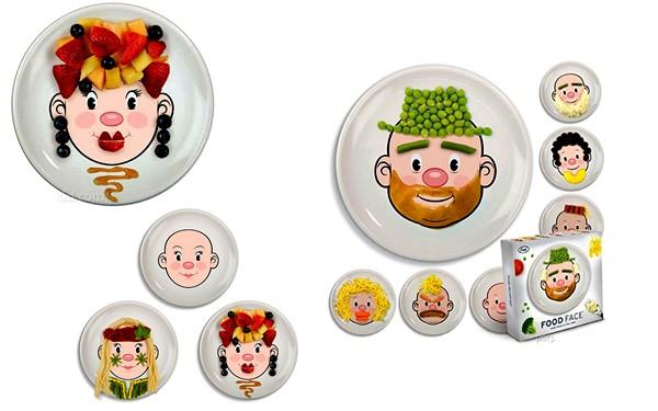 FoodFace, тарелки для рисования едой
