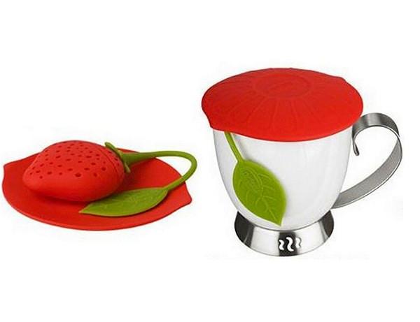 Kettle silicone-strawberry Trudeau Silicone Tea Infuser