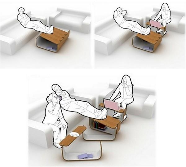 Модульный столик-гармошка UMYD Coffee Table