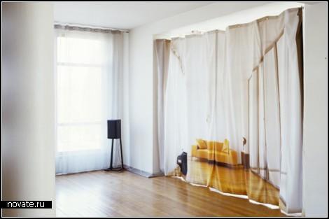 Проект Curtain. Интерьерные иллюзии, созданные шторами