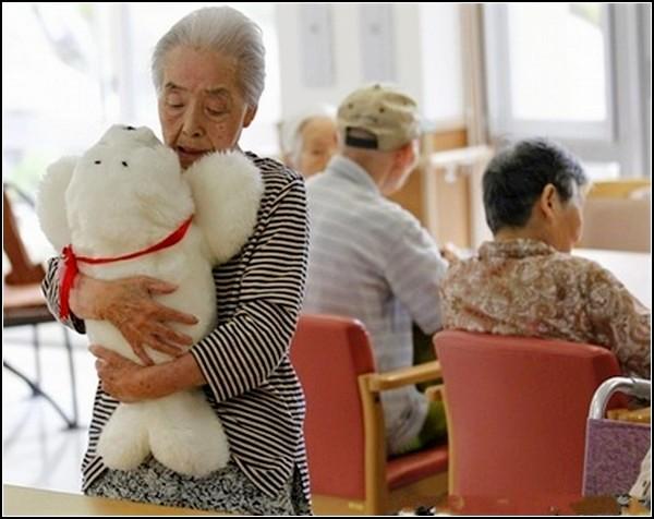 Little Digital Seal, механический тюлень в качестве компаньона для японских стариков