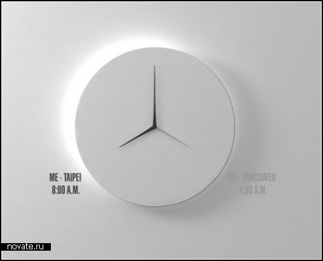 Часы Dual-Time Wall Clock от дизайнера Kit Men Keung