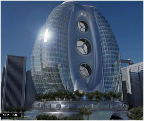 Концепт экологической гостиницы-яйца