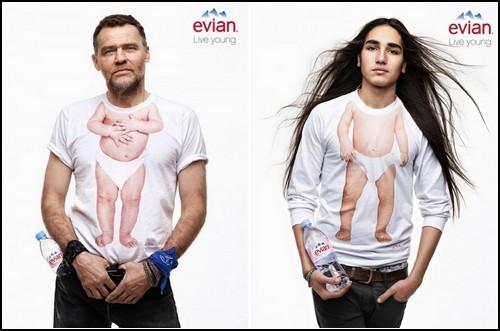 Evian возвращает в детство. Рекламная кампания Live Young