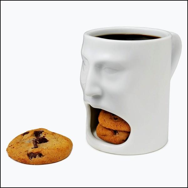 Кружка Face Mug, разевающая рот на ваш завтрак