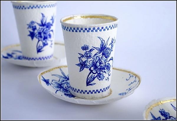 Finest paperware, проект необычной одноразовой посуды Ребекки Уилсон (Rebecca Wilson)