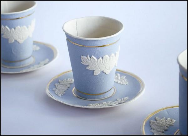 Finest paperware, расписная *под фаянс* бумажная посуда