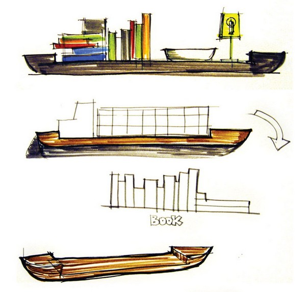 Flow shelf: полка-парусник в стиле морских странствий