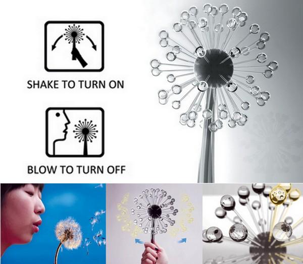Secret of Light, креативный светильник-одуванчик