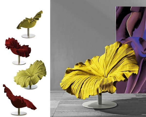 Flower Bloom Chair, кресло в виде цветка гибискуса