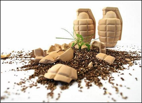 Flower Grenades, безопасные гранаты для травы и цветов