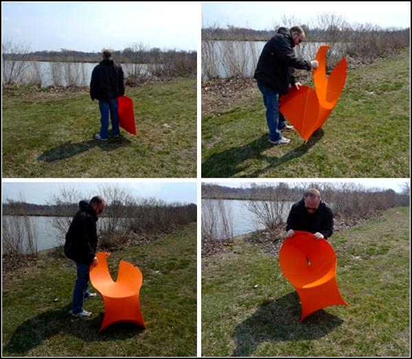 Компактный складной стул-оригами Flux chair