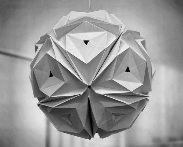 Светильники-оригами Folded Light от Jiangmei Wu