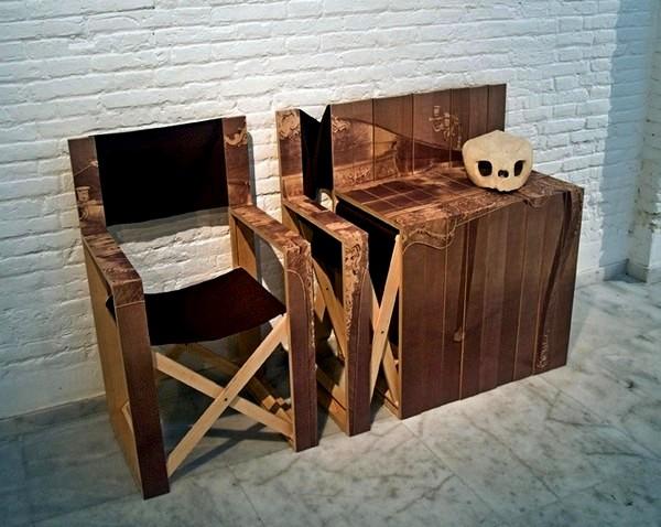 Com-oda Folding Chairs, складные стулья, превращающиеся в тумбочку
