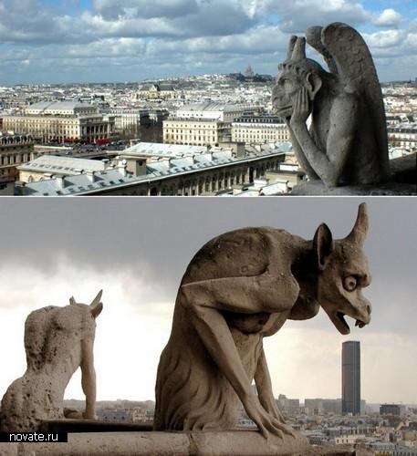 Горгульи  парижского Нотр-Дамма