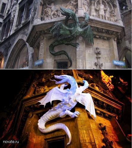 Драконы на мюнхенской ратуше