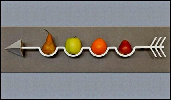FrecciaMela, настенная ваза для фруктов в виде стрелы
