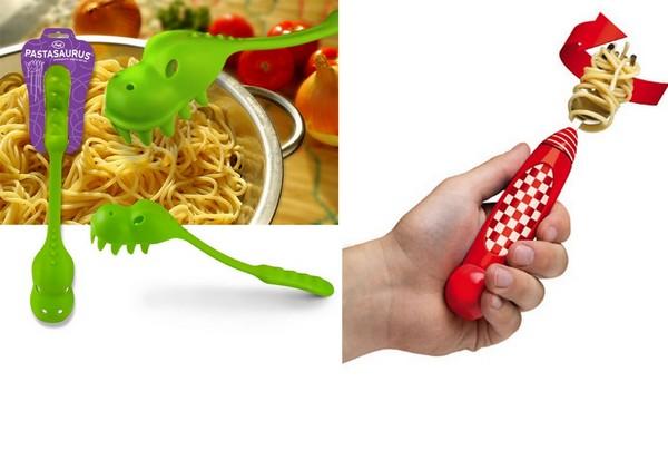 Оригинальная ложка для спагетти и вилка с моторчиком