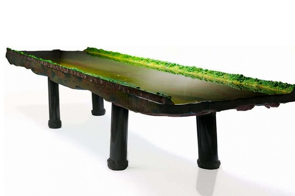 Столы-водоемы Waterscape Tables от Гаэтано Пеше (Gaetano Pesce)