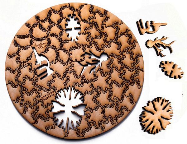 Паззлы с абстрактными рисунками от дизайн-студии Nervous System