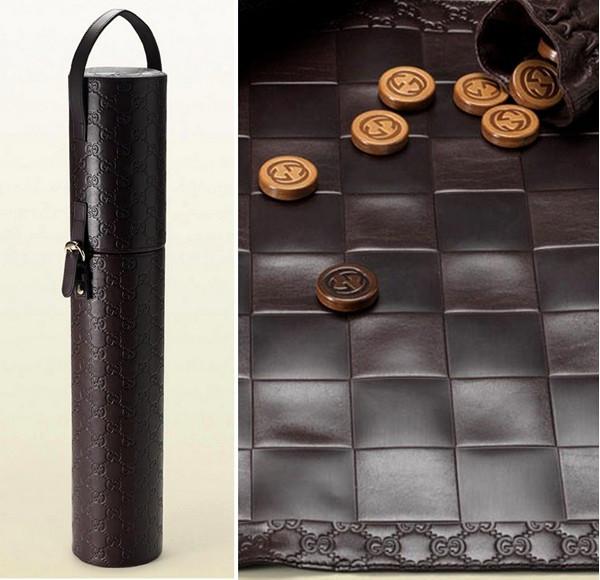 Коллекционный комплект кожаных шашек от Gucci